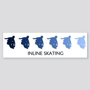 Inline Skating (blue variatio Bumper Sticker