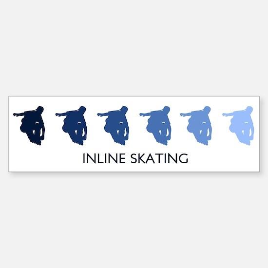 Inline Skating (blue variatio Bumper Bumper Bumper Sticker