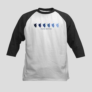 Inline Skating (blue variatio Kids Baseball Jersey