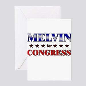MELVIN for congress Greeting Card