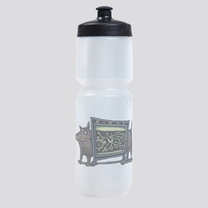 Dog in X-Rax Shows Things He's Eaten Sports Bottle