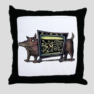 Dog in X-Rax Shows Things He's Eaten Throw Pillow