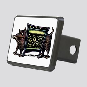 Dog in X-Rax Shows Things Rectangular Hitch Cover