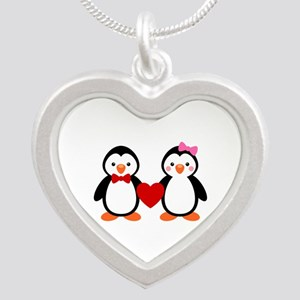 Cute Penguin Couple Necklaces