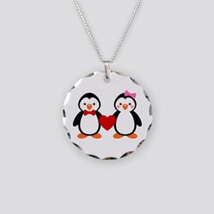 Cute Penguin Couple Necklace