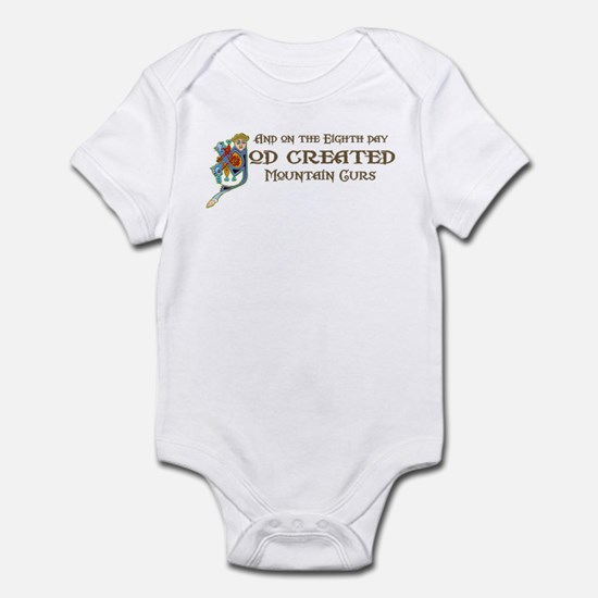 God Created Mountain Curs Infant Bodysuit