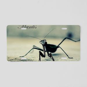 Praying Mantis Aluminum License Plate