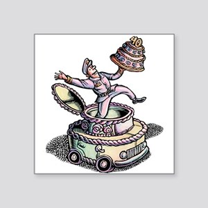Cake Delivery Man in Cake Car Sticker