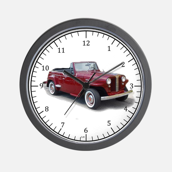 1950 Jeepster Wall Clock