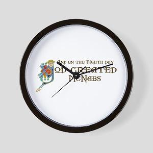 God Created McNabs Wall Clock