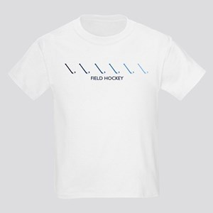 Field Hockey (blue variation) Kids Light T-Shirt