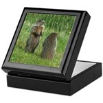 Standing Groundhogs Keepsake Box