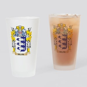Delfin Coat of Arms - Family Crest Drinking Glass