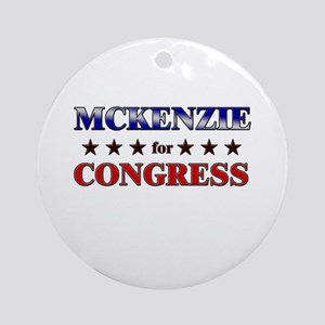 MCKENZIE for congress Ornament (Round)