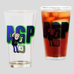 ANGRY GRANDPA TSHIRT Drinking Glass