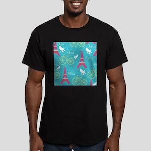 Paris Men's Fitted T-Shirt (dark)