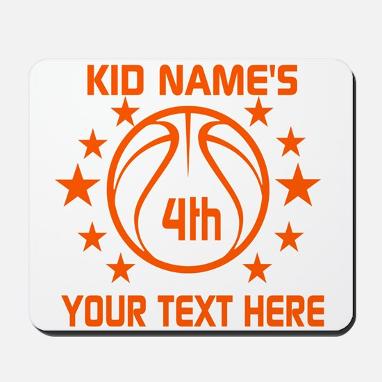 Personalized Baskeball Birthday or Name Mousepad