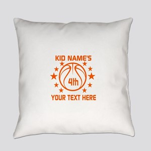Personalized Baskeball Birthday or Everyday Pillow