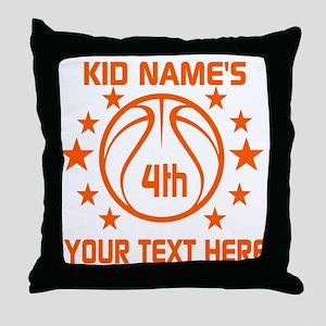 Personalized Baskeball Birthday or Na Throw Pillow