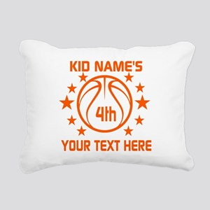 Personalized Baskeball B Rectangular Canvas Pillow