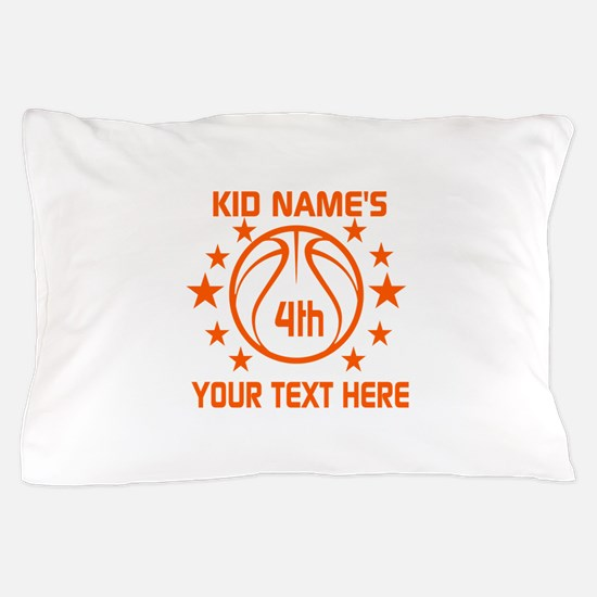 Personalized Baskeball Birthday or Nam Pillow Case