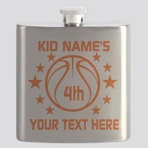 Personalized Baskeball Birthday or Name and Flask