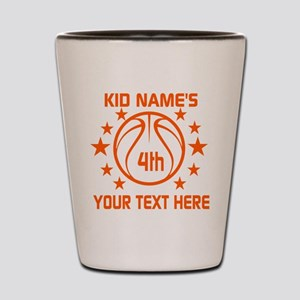Personalized Baskeball Birthday or Name Shot Glass