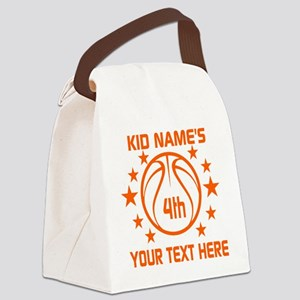 Personalized Baskeball Birthday o Canvas Lunch Bag