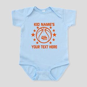 Personalized Baskeball Birthday or Infant Bodysuit