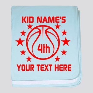 Personalized Baskeball Birthday or Na baby blanket
