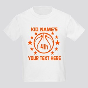 Personalized Baskeball Birthday Kids Light T-Shirt