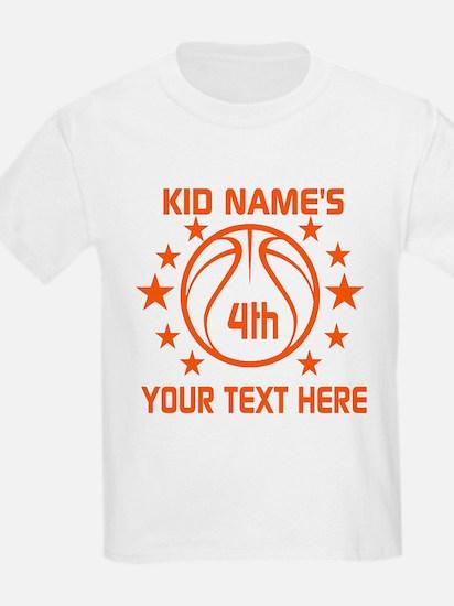 Personalized Baskeball Birthday T-Shirt