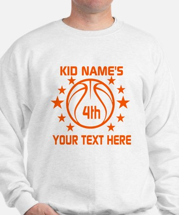 Personalized Baskeball Birthday or Name Sweatshirt