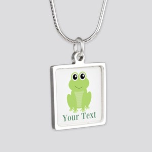 Personalizable Green Frog Necklaces