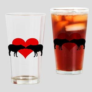 Tapirs Drinking Glass