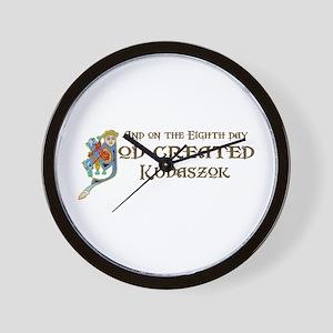 God Created Kuvaszok Wall Clock