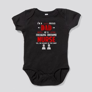 Proud Dad Of An Awesome Nurse T Shirt Body Suit