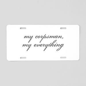 My Corpsman Aluminum License Plate