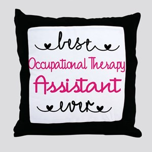 Occupational Therapy Assistant Throw Pillow