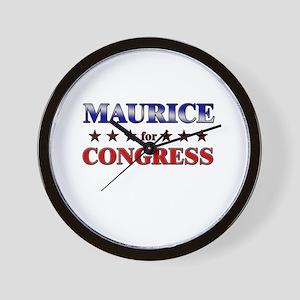 MAURICE for congress Wall Clock