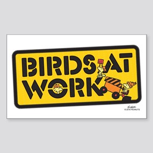 Peanuts Birds at Work Light Sticker