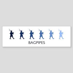 Bagpipes (blue variation) Bumper Sticker