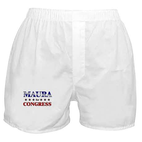 MAURA for congress Boxer Shorts