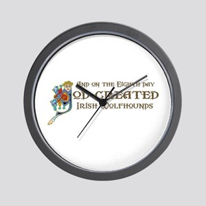 God Created Wolfhounds Wall Clock