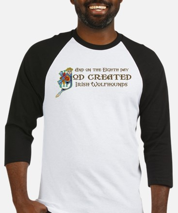 God Created Wolfhounds Baseball Jersey