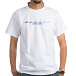 Auto Racing (blue variation) White T-Shirt