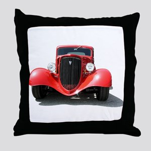 Helaine's Hot Rod Throw Pillow