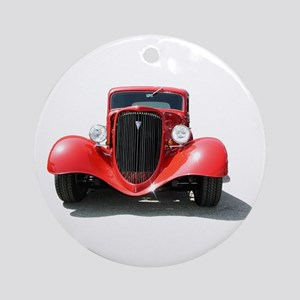Helaine's Hot Rod Ornament (Round)