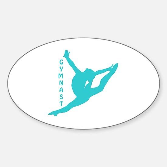 Cute Leap Sticker (Oval)