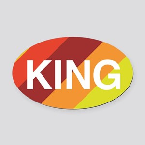 King Oval Car Magnet